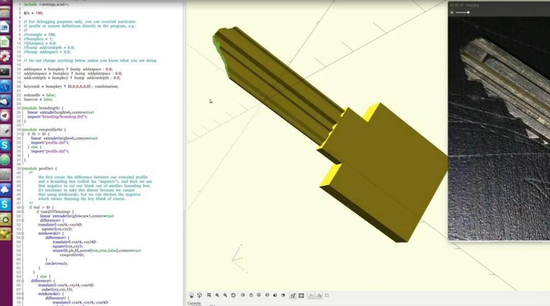 Duplicar llaves con foto con impresora 3d